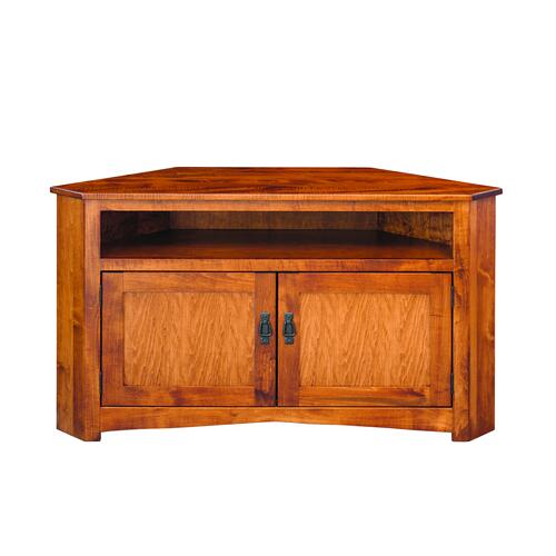 Country Value Woodworks - Large Mission Corner Entertainment Center