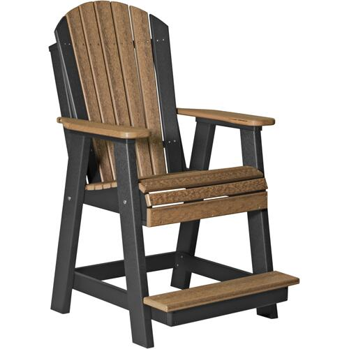 Adirondack Balcony Chair Premium Antique Mahogany and Black