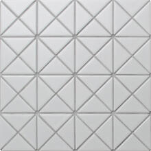 2 Pure Color Pattern Triangular Matte White Porcelain Mosaic Tile