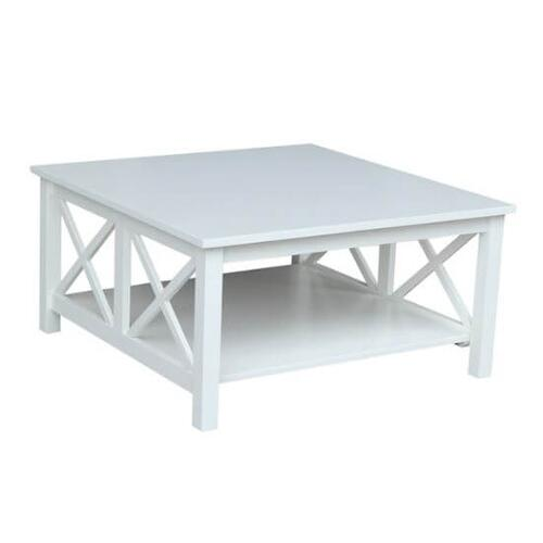 Hampton Square Coffee Table - White