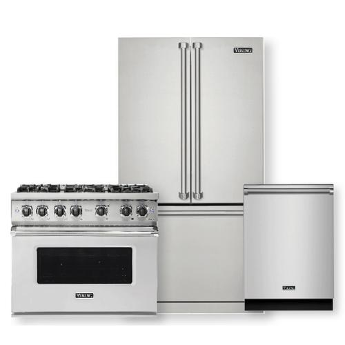 VIKING Professional 5 Series 5.1 Cu. Ft. Freestanding Gas Convection Range -3 piece package