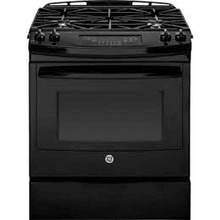 FLOOR MODEL MOD # JGS650DEFBB-FL S/N 020P 30 Inch Slide-In Gas Range with Power Boil Burner, Precise Simmer Burner, Storage Drawer, 4 Sealed Burners, 5.6 cu. ft. Capacity, Self-Clean, ADA Compliant and Star-K Certified: Black