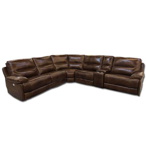 Cheers - 6PC LEATHER POWER SECTIONAL