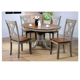 Pedestal Dining Table with 15 in. Butterfly Leaf