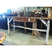 See Details - Cherry And Birch Sofa Table With Drawer