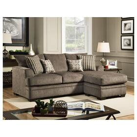 Cornell Sofa w/ Chaise- Pewter
