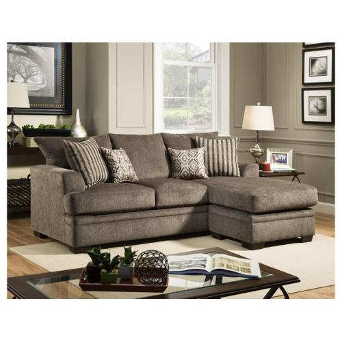 American Furniture Manufacturing - Cornell Sofa w/ Chaise- Pewter
