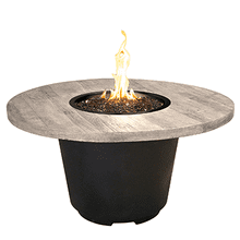Cosmopolitan Round Firetable Silver Pine