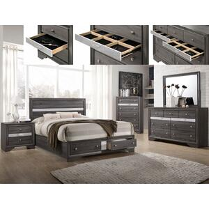 Crown Mark B4670 Regata Storage King Bedroom