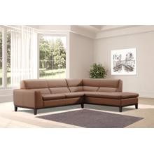 View Product - Snow Italian Leather 2 Piece Sectional by Nicoletti Calia