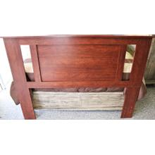 See Details - Queen/Full Headboard with Side Styles - Cinnamon Fruitwood
