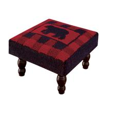 Buffalo Check Bear Stool