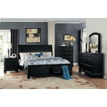 HOMELEGANCE 1714BK5-BK6-BK1-BK2-BK3 Laurelin - 3-Piece Bedroom Group - Queen Bed, Dresser & Mirror