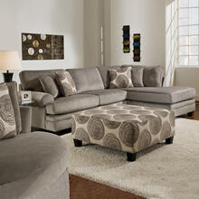 See Details - 2 Piece Groovy Smoke Sectional Sofa