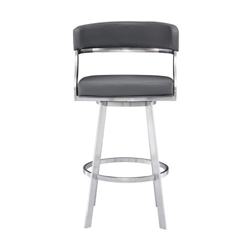 """In Stock Specials - """"Atlas"""" Swivel Stool in Brushed Stainless Steel"""