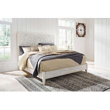 See Details - Paxberry- Whitewash- King Panel Bed
