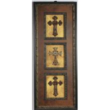 Vertical Wall Art with 3 Crosses