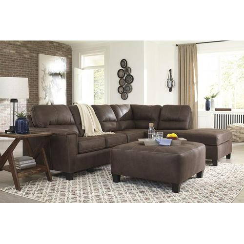 Ashley - 2-piece Sleeper Sectional With Ottoman