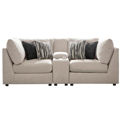 Kellway - Bisque - 3-Piece Sectional with Console