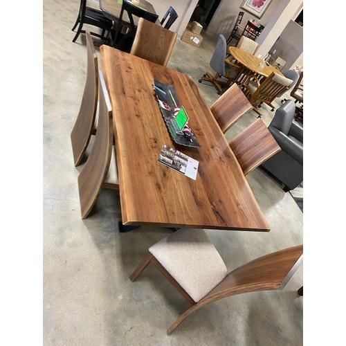 Superior Furniture - Live Edge Walnut Table and Chairs