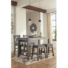 Caitbrook - Gray 5PC Dining Room Set