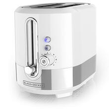 BLACK DECKER, TR2200WSD, White, 2 Slice Toaster, Medium