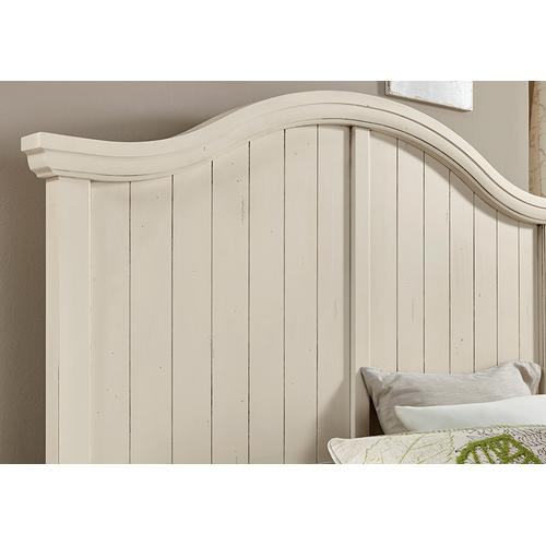 Packages - Vaughn-Bassett Casual Retreat 4 Pc. Bedroom Set - Shell White