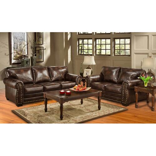 Kaylas Furniture - Hacienda Matador Sofa - Brown