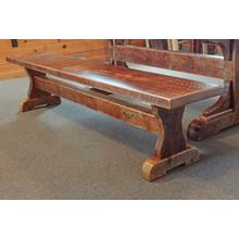 Barn Board Trestle Style Bench