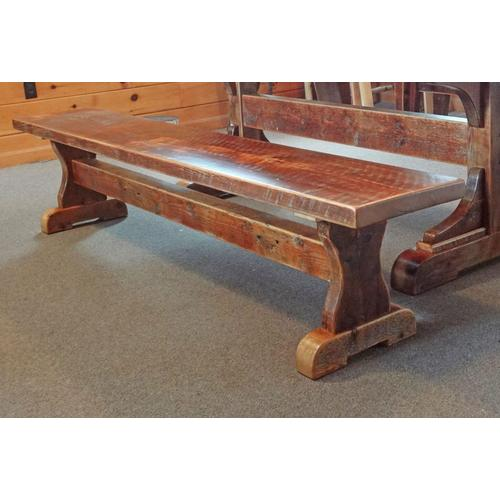 Cozy Creations Collection - Barn Board Trestle Style Bench