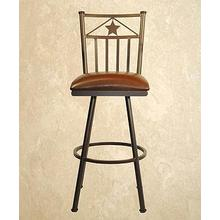 Lonestar - Armless Swivel Barstool