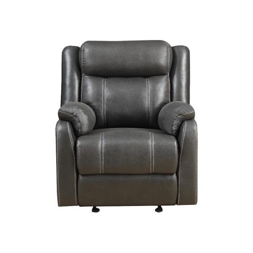 Klaussner - DOMINO Casual Gliding Recliner- Valor Carbon
