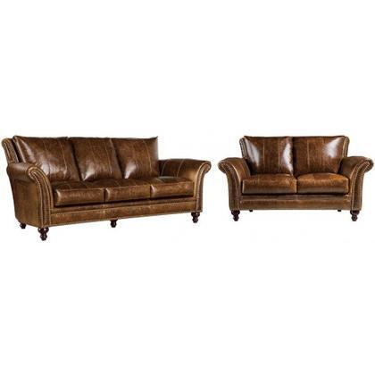Butler 100% Genuine Leather Sofa & Loveseat 2239