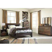 Windlore - Queen Panel Bed, Dresser, Mirror, 1 X Nightstand