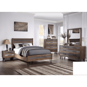 Avalon - King Bed, Dresser, Mirror, Chest and Nightstand
