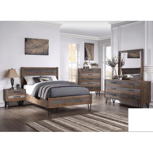 Queen Bed, Dresser, Mirror, Chest and Nightstand