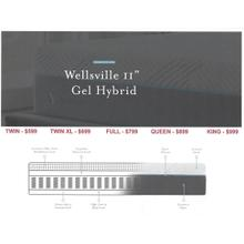 "Malouf Wellsville 11"" Gel Hybrid Mattress"