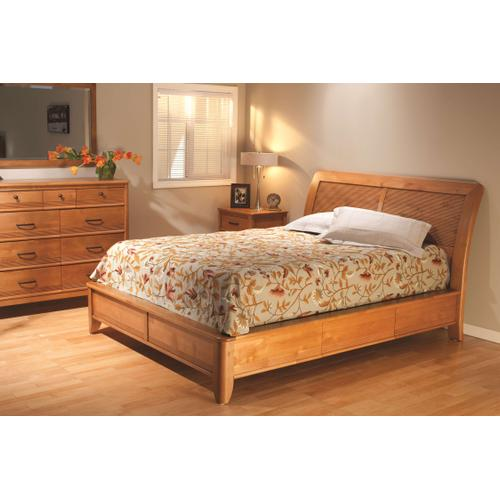 GSP Pacific King Storage Bed Glazed Spice Finish