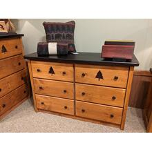 Promo Pine 6-Drawer Dresser