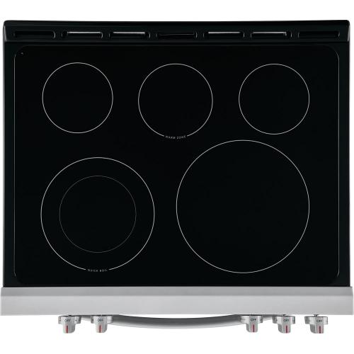 30 Inch Front Control Electric Range with 5 Element Cooktop