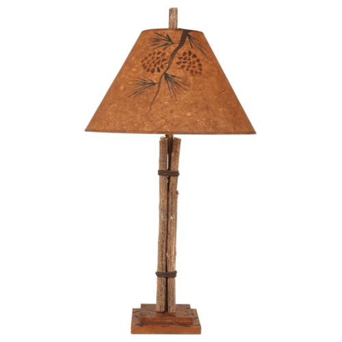 Twig And Leather Table Lamp