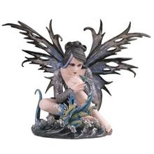 """Water Fairy with Dragon 14"""" high"""