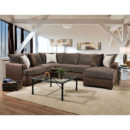 American Furniture Manufacturing - 6800 - Akan Mocha Sectional