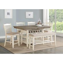 Lakewood Counter Dining Set  Grey/White