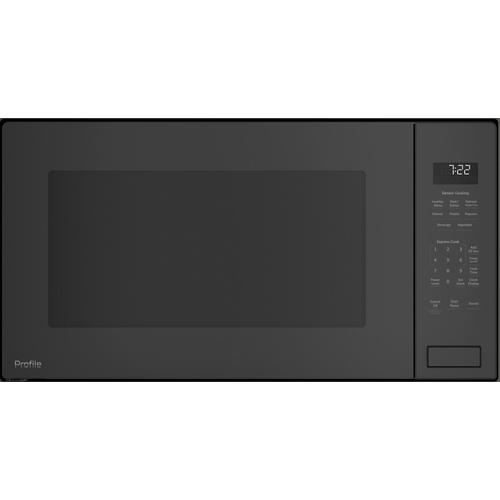 GE Profile 2.2CF Gray Countertop Microwave