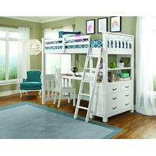 View Product - Highlands Twin Size Loft Weathered White Finish
