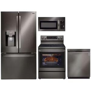 Packages - LG 4-Piece Black Stainless Steel Appliance Suite