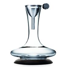 Legnoart Crook Wine Decanter Set with Dark Ashwood Base and Funnel with Filter