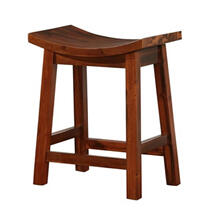 Powell Furniture Arnold Natural Saddle Counter Stool