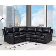 See Details - 9241 - Black Power Reclining Sectional